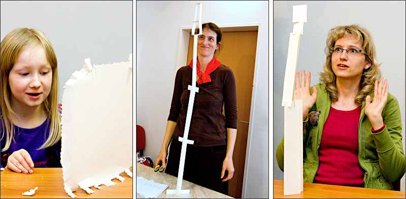 Jarní scrapbbokový sraz - stavba papírových věží